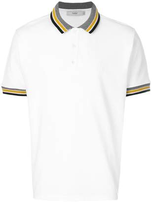 Pringle knited trim polo shirt