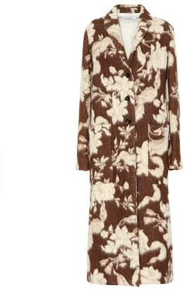 Jil Sander Floral wool and alpaca coat