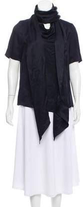 Proenza Schouler Silk Short Sleeve Blouse