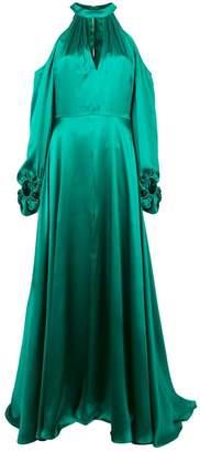 Nha Khanh cold shoulder gown