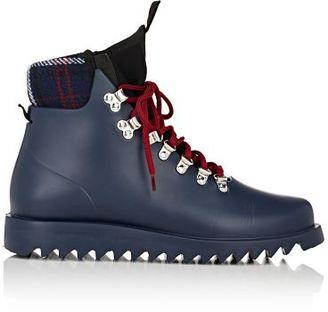 Barneys New York Women's Neoprene-Insert Rain Boots-NAVY $145 thestylecure.com