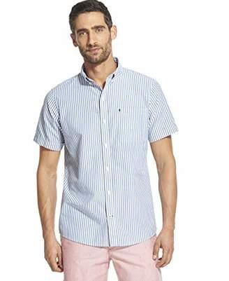 Izod Men's Breeze Short Sleeve Button Down Stripe Shirt