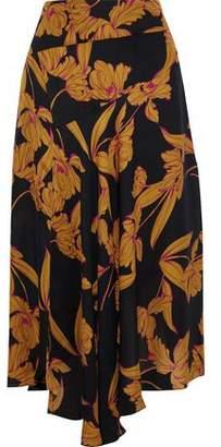 A.L.C. Lev Printed Silk Midi Skirt
