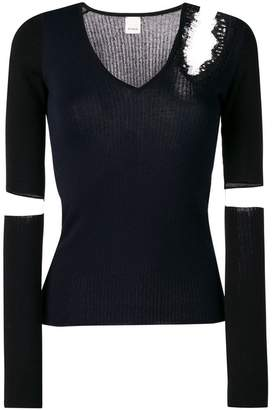 Pinko cut-out slim-fit sweater