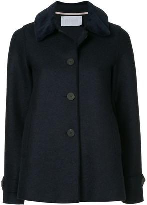 Harris Wharf London Loden faux fur trimmed jacket