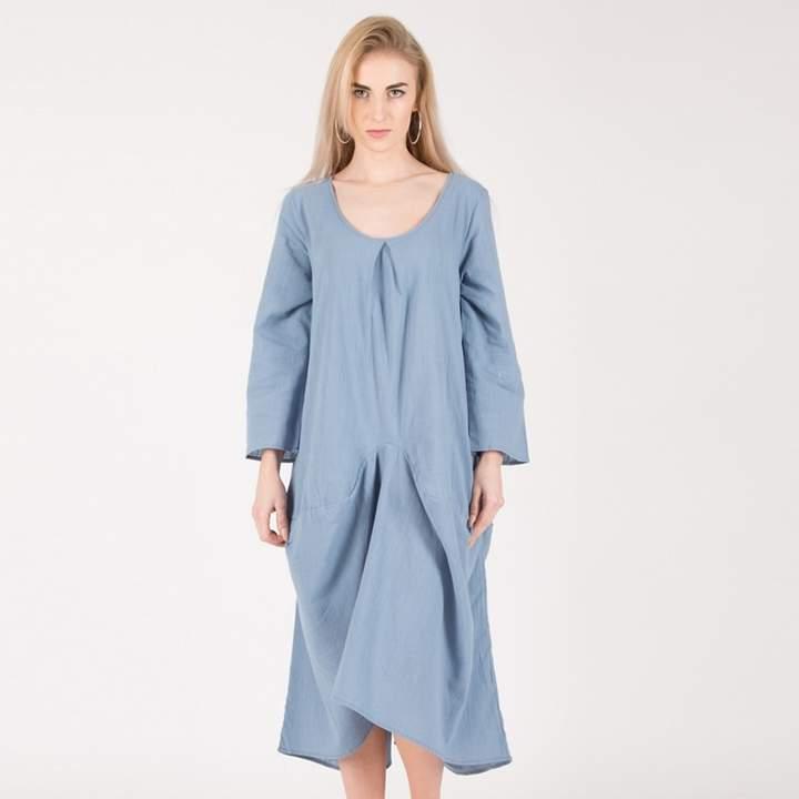 Urban Mist - Blue Oversized Tulip Style Floaty Dress