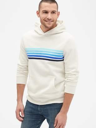 Gap Vintage Soft Chest-Stripe Pullover Hoodie