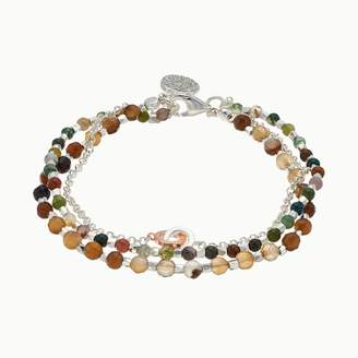 Love This Life love this life Silver Plated 3-Strand Jasper Bracelet