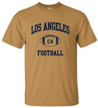 Buffalo David Bitton UGP Campus Apparel Los Angeles Classic Football Arch Basic Cotton T-Shirt - 2X-Large - Old Gold