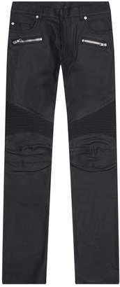 Balmain Wet Look Biker Trousers