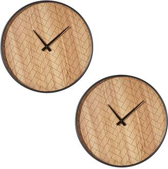 Amalfi by Rangoni Bruce Wall Clock, 40.5cm (Set of 2)