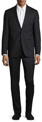 Calvin Klein X-Fit Slim Tonal Micro-Check Wool Suit
