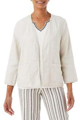 Olsen Linen Open-Front Jacket