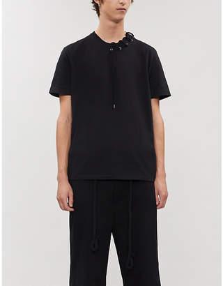 Craig Green Lace-trimmed cotton T-shirt
