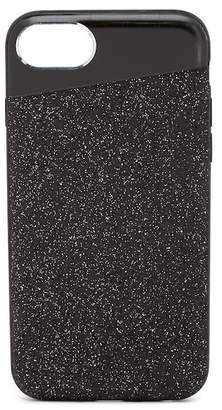 Nanette Lepore Angled Black Glitter iPhone 6/6S/7/8 Case
