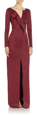 Black Halo Ziggy Long Sleeve Floor-Length Gown $650 thestylecure.com