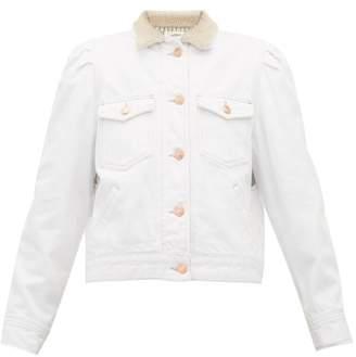 Etoile Isabel Marant Nolinea Faux Shearling Denim Jacket - Womens - White