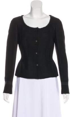 Prada Virgin Wool Snap Jacket