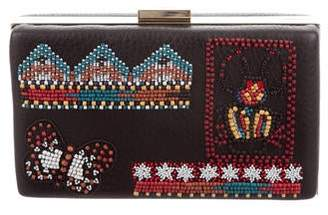 Valentino Leather Beaded Clutch