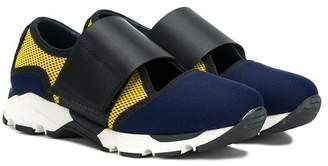 Marni color block touch strap sneakers