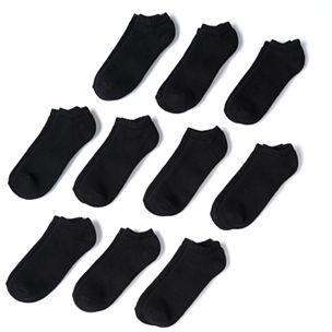 Men's Tek Gear 10-pack Athletic No-Show Socks $18 thestylecure.com