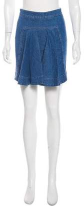 Stella McCartney Flounced Denim Skirt