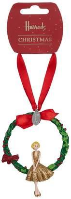 Harrods Glitter Woman in Garland Christmas Decoration