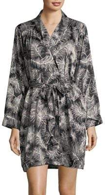 Kate Spade Feather-Print Wrap Robe
