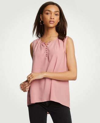 Ann Taylor Petite Covered Button Swing Shell