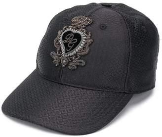 Dolce   Gabbana patch detail baseball cap ca25de0e5ae