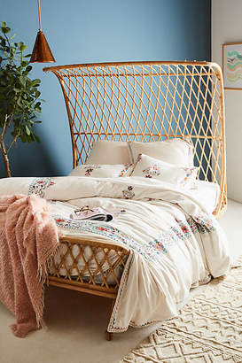 Anthropologie Embroidered Jordenna Duvet Cover