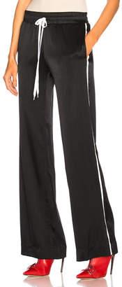 Amiri Silk Track Wide Leg Pants