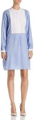 Paule Ka Striped Silk Tunic Shirt Dress