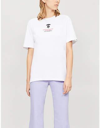 Aape Ape-logo cotton-jersey T-shirt