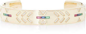 The Last Line Tattoo 14K Yellow Gold And Multi-Stone Cuff