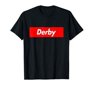 Derby Name Family Red Box Parody Logo Funny T-Shirt