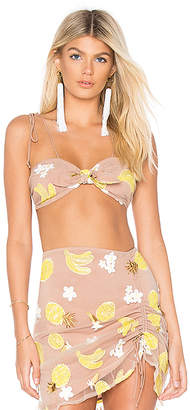 For Love & Lemons Fruitpunch Knot Front Top