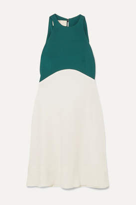 Antonio Berardi Two-tone Crepe Mini Dress - Green