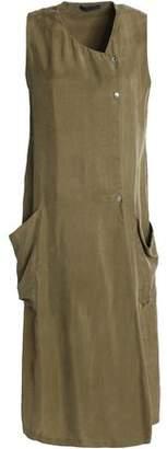 Belstaff Wrap-Effect Washed Crepe De Chine Dress