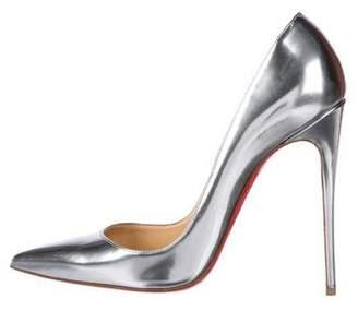 Christian Louboutin Metallic Pointed-Toe Pumps