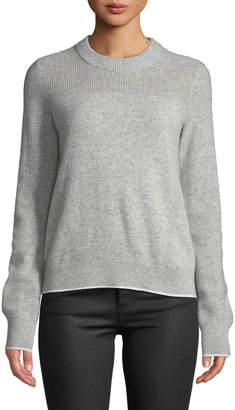 Rag & Bone Yorke Cashmere Crewneck Sweater with Mesh Details