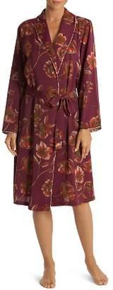Midnight Bakery Floral Satin Robe