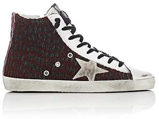 Golden Goose Women's Francy Mixed-Knit Leather Sneakers