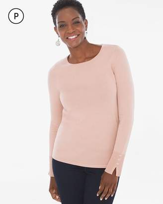 Chico's Chicos Petite Button-Sleeve Pullover
