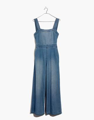 Madewell Denim Apron Bow-Back Jumpsuit
