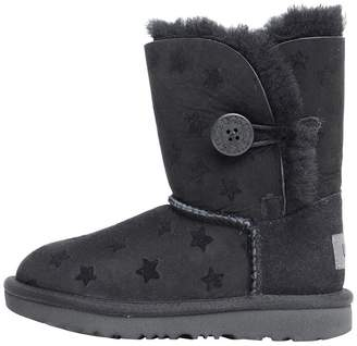 UGG Toddler Girls Bailey Button II Stars Classic Boots Black