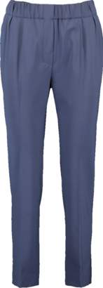 Brunello Cucinelli Tropical Wool Pull On Pant