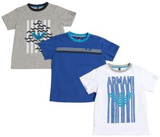 Armani Junior Set Of 3 Cotton Jersey T-Shirts