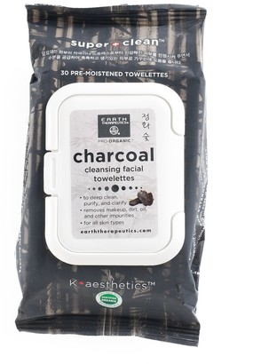 Earth Therapeutics 30-ct. Charcoal Cleansing & Makeup Removing Facial Towelettes