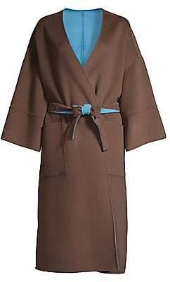 Max Mara Women's Pegli Reversible Virgin-Wool Overcoat